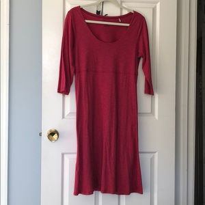 Toad&Co red dress size medium